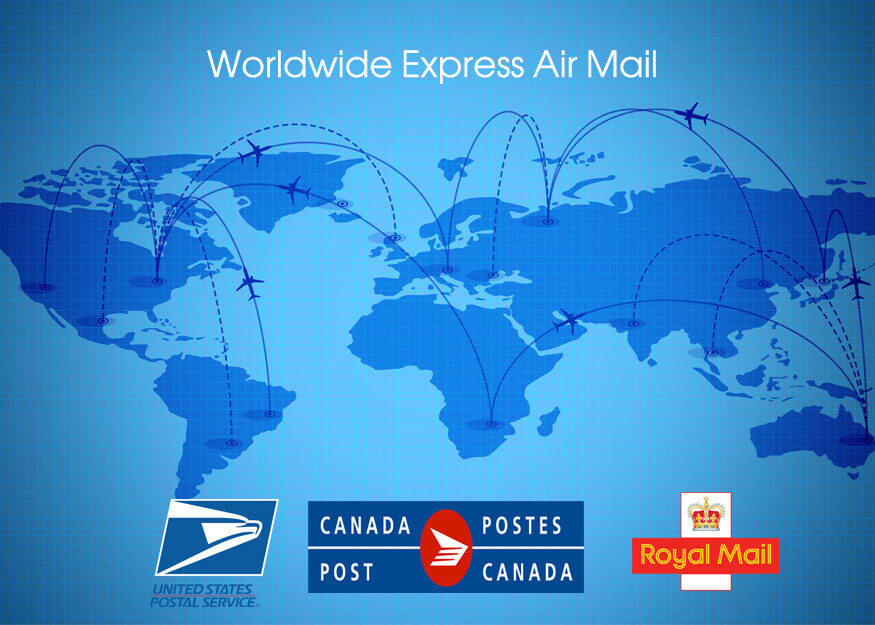 Express Airmail Shipping Cost List