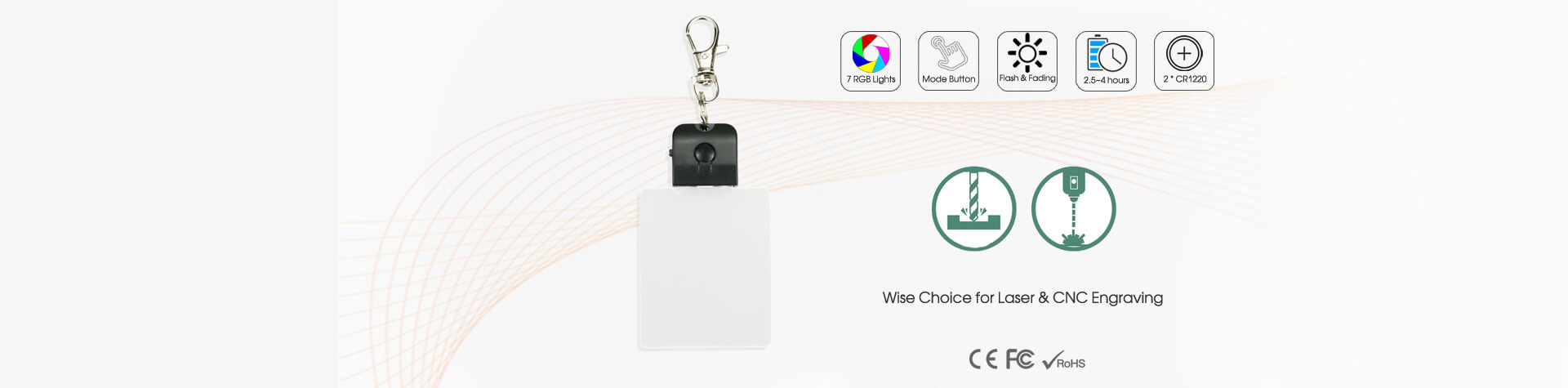 LED Acrylic Key Chain