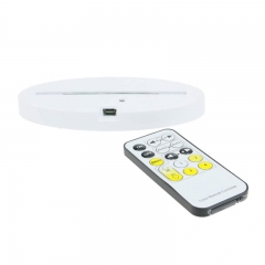 Oval Flat LED Lamp Base RGB Lights IR Remote TDL-O