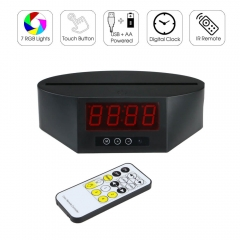 Long LED Clock Lamp Base RGB Lights IR Remote TDL-L
