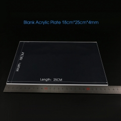 Blank Cast Acrylic Sheet Plate PMMA Engraving Material TDL-A