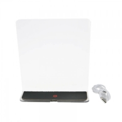 RGB LED Table Lamp Blank Acrylic Plate USB Powered TDL-T