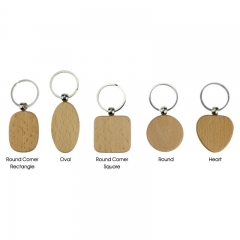 Blank Solid Wood Key Chain Laser Engraving Material