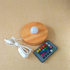 RGB Wood LED Base RGB Lights IR Remote TDL-WP