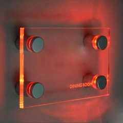 LED Illuminated Standoff Sign Holder for Acrylic 4pcs/set