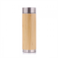 Blank Banboo Wood Thermos Stainless Steel Cup W009