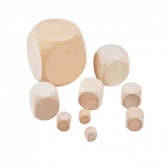 Blank Solid Wood Dice for Laser Engraving W006