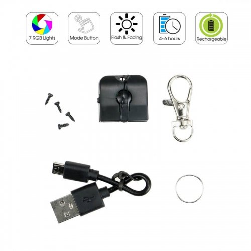 Rechargeable LED Keychain RGB Lights without Acrylic Plate TDL-Z