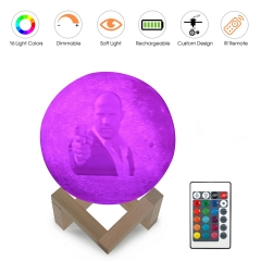 Custom Design 3D Printed Moon Lamp RGB Lights 3D-MP